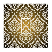 Sticar-it Ltd Fade To Black With BUFF coloured Damask Pattern Light Switch Sticker vinyl cover skin decal For Any Room