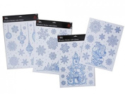 Christmas Snowflakes & Scenes Window Stickers With Glitter. Low Price! by Christmas Decorations
