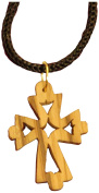 Earthwood Olive Wood Cross with Cut-Outs