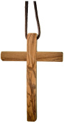 Earthwood Olive Wood Cross with Short Cord, Thin