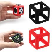 FidgetKull Protective Cover Case for Pressure Relief Fidget Toy Dice Cube Prismatic Shell Black