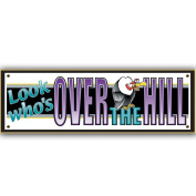 """Retirement Party Banner -- """"Over the Hill"""" Deluxe Banner, 1.5m x . 60th Birthday, Retirement Decorations)"""