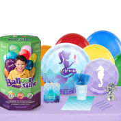 Mermaids Under The Sea Party Supplies - Party Pack with Helium for 16 Guests