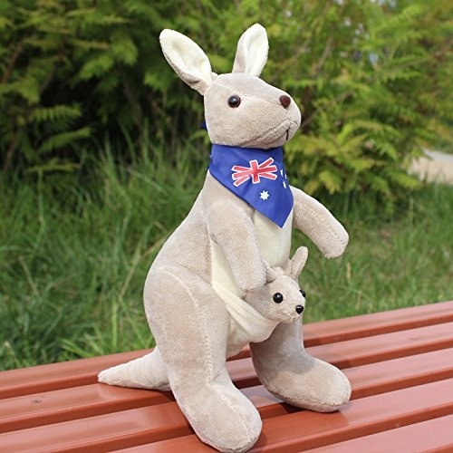 Lovely Caton Kangaroo Stuffed Animal Plush Soft Toy Stuffed With