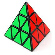 Tollboy Pyramid Speed Cube Puzzle Twist Toy Black Edge