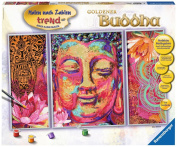 """Ravensburger 28976 23cm Golden Buddha"""" Paint by Numbers Kit"""