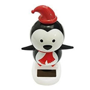 Veroda Solar Powered Dancing Flip Flap Car Home Desk Dancer Bobble Toy Penguin