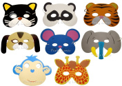 Alytimes Pack of 24 Assorted Party Favour Children's Foam Animal Masks