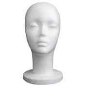 Foam Mannequin Head, Tonsee Female Styrofoam Foam Mannequin Manikin Head Model Wig Hair Glasses Hat Display
