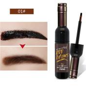 ROPALIA Matte Wine Bottle Peel Off Dye Eyebrow Gel Long Lasting Waterproof Eyebrows Makeup