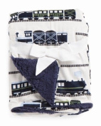 Baby Thro Timothy Trains Printed Micromink Decorative Baby Throw 80cm X 100cm