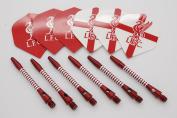 Official Liverpool FC Standard shape dart flights & Aluminium darts shafts