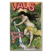 Trademark Fine Art Source St. Pierre eue de Vals by L.Courchez Canvas Wall Art, 60cm x 80cm