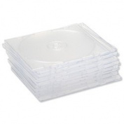 Brand New. Compucessory CD Case Slimline Jewel for 1 Disc W125xD5xH124mm Clear Ref CCS907948 [Pack 10]