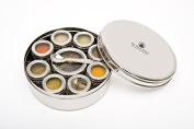 The Three Sisters Spice Box Masala Dabba with Solid Lid