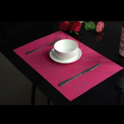 XHHOME Set of 4 PVC Table Place Mats, Non-slip Heat Insulation Placemats Washable Dinner Table Mats