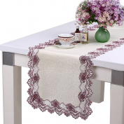 homand'o Table Runner 38cm x 220cm Lace with Jacquard Fabric