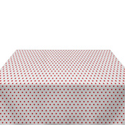 Red Nautical Dots Milliken Polyester Tablecloths - Assorted Sizes