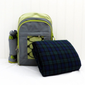 4 Person Grey & Lime Picnic Rucksack - Gift ideas for Birthday, Anniversary and Congratulations Presents