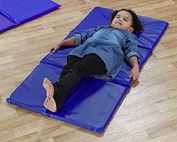 4x Triple Folding Nursery Sleep Mat in Blue for Playgroups & Childcare