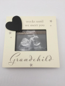Grandparents Countdown Weeks Until We Meet You Grandchild Baby Scan Frame Gift Baby Shower
