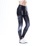 Eco-daily Women's Premium 4D Padded Cycling Pantskirt Elastic Comfortable Cycling 3/4 Tights & Length Pants