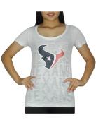 Womens Pink Victoria's Secret Houston Texans Crew-Neck T Shirt