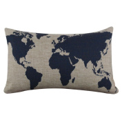 DATEWORK Linen Square Throw Cushion Pillow Cover