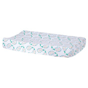 Bebe au Lait Classic Muslin Changing Pad Cover, Peacock