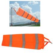 Airport Windsock,Wind Cone 80cm Long Outside Wind Sock Windsock Outdoor Wind Sock Bag with Reflective Belt