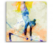Gymnastics Sports Picture Wall VIII 60x60 cm Watercolour Art Colours by Paul Sinus