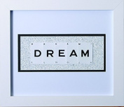 Glitter Framed Vintage Style Playing Card Quotes - DREAM -