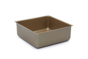 Paul Hollywood by KitchenCraft Non-Stick Deep Square Cake Tin with Loose Base, 20 cm