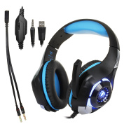 3.5 mm Plug LED Light Professional Gaming Stereo Headset Headphone Earphone With Microphone For PS4/XBOX ONE/Mac/PC