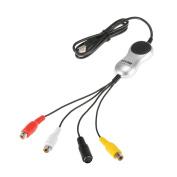 ezcap170 USB 2.0 Video Capture HD Video Converter Recorder Convert Analogue Video Audio to Digital Format for Windows 7 8 10