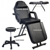 BRAND NEW ADJUSTABLE EXAM MEDICAL DENTAL CHAIR AND PORTABLE STOOL COMBINATION