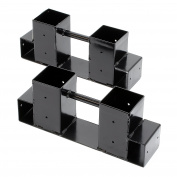 Wood stacking aid for Fireplace wood in set with 2 pieces
