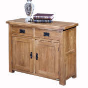 WMAOT Cabinet Solid Oak Wood Dishes Display Cabinets Two Door Locker Dining Furniture Sideboard Cabinet