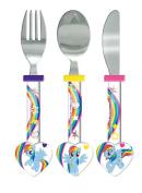 My Little Pony Heart Shaped Cutlery Set, Multi, Set of 3