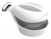 BIESSE CASA 0961 Cheese or Sugar Bowl with Glass Container and Metal Knob, Orange