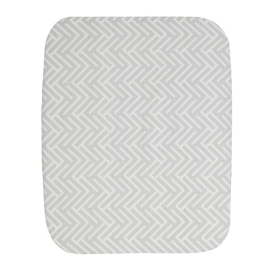 Happy Chic Baby by Jonathan Adler Emma Fitted Crib Sheet, Grey/White
