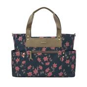 JJ Cole Arrington Nappy Bag, Navy Floral