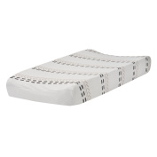Lambs & Ivy Meadow Changing Pad Cover, Cream/White
