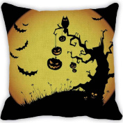 Ikevan® Halloween Pumpkin Square Pillow Cover Cushion Case Pillowcase Zipper Closure(46cm x 46cm )