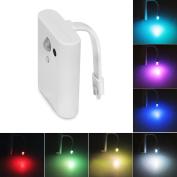 FISHBERG Motion Activated Night Light Led Toilet Bowl Light Sensitive Colour Changing Nightlight