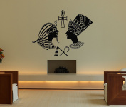 Wall Vinyl Sticker Decals Mural Room Design Decor Art Egypt Empress Nefertiti Cleopatra Woman Queen bo2550