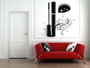 Wall Vinyl Sticker Decals Mural Room Design Decor Art Makeup Cosmetics Mascara Eyelashes Beauty Salon bo2539