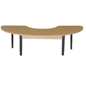 Wood Designs HPL2476HCRCA1217 - Half Circle High Pressure Laminate Table with Adjustable Legs 30cm - 43cm