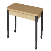 Wood Designs HPL2436A1829C6 - Mobile Rectangle High Pressure Laminate Table with Adjustable Legs 50cm - 80cm
