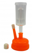 3 Piece Cylinder Airlock with Universal Orange Carboy Cap